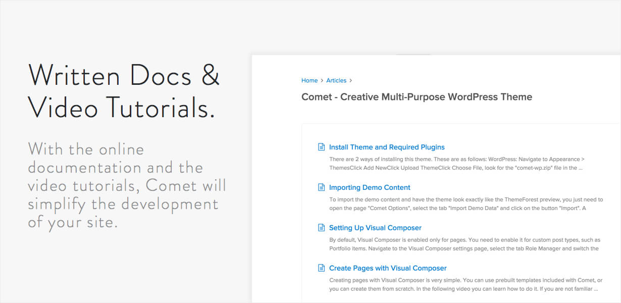 Comet - Creative Multi-Purpose WordPress Theme - 9